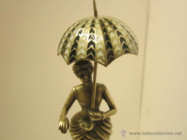 Antigüedades: FIGURA DE DAMA DEL PARAGUAS - Foto 2 - 42056322