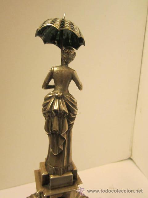 Antigüedades: FIGURA DE DAMA DEL PARAGUAS - Foto 5 - 42056322