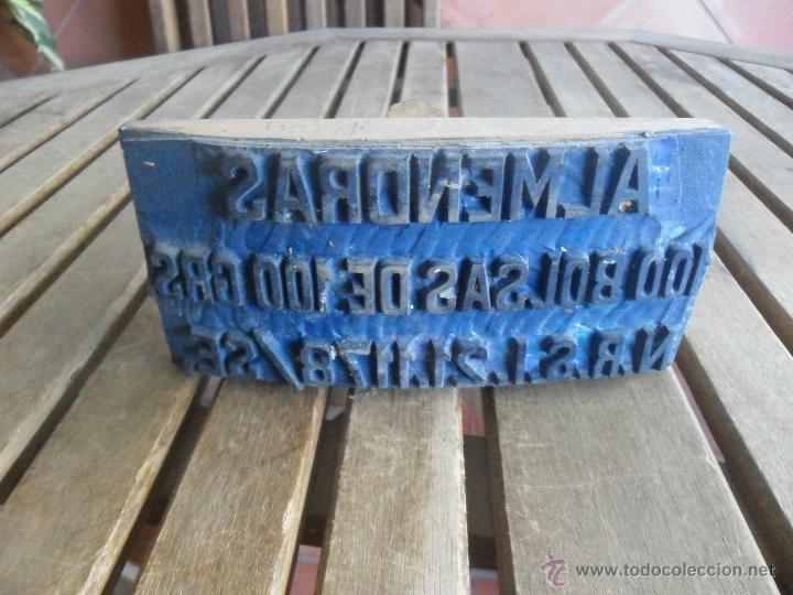 SELLO DE CAUCHO PARA SELLAR SACOS DE YUSTE ALMENDRAS 100 BOLSAS DE 100 GRAMOS (Antigüedades - Técnicas - Rústicas - Agricultura)