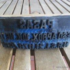 Antigüedades: SELLO DE CAUCHO PARA SELLAR SACOS DE YUSTE PAPAS PESO APROXIMADO 10 KILOS NETO. Lote 42064710