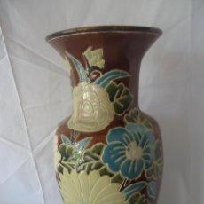 Antigüedades: GRAN JARRÓN CHINO DE CERÁMICA SELLADO, CERAMICA CHINA A LA CUERDA. Lote 42073141