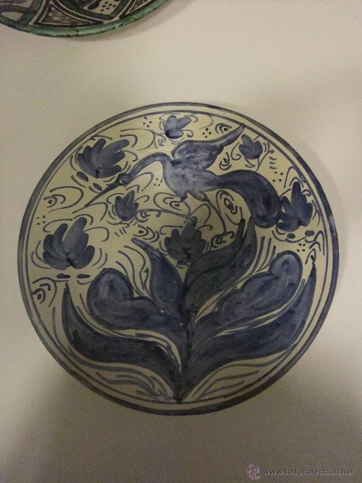 PLATO CERÁMICA TERUEL PUNTER (Antigüedades - Porcelanas y Cerámicas - Teruel)