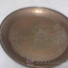 Antigüedades: PEQUEÑO PLATO DE LATÓN PARA DECORAR CHIMENEA.. Lote 42090284