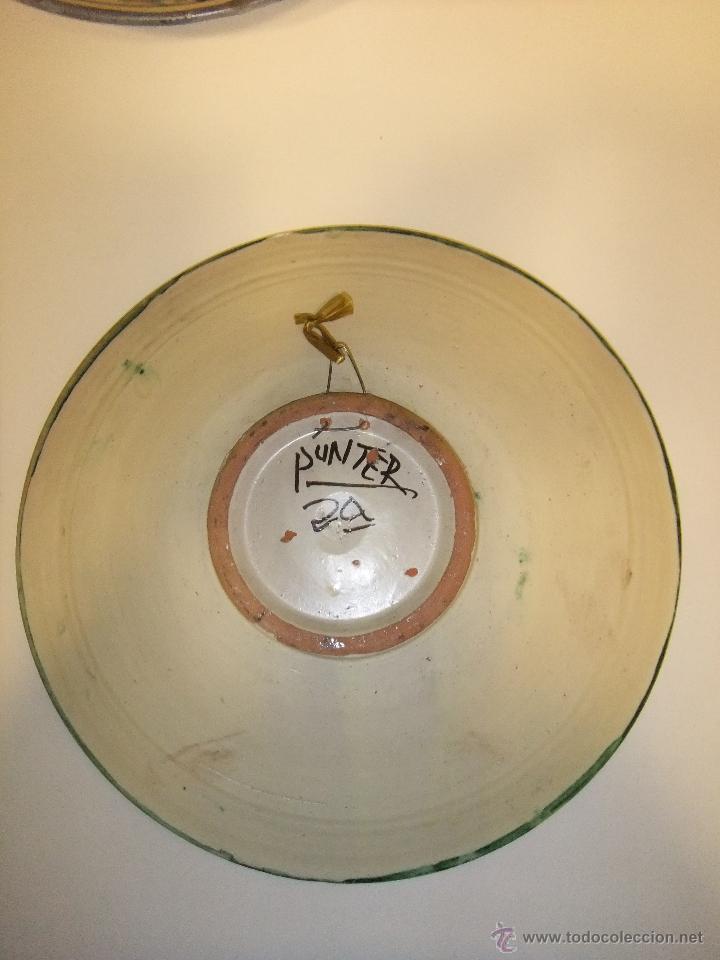 Antigüedades: Plato cerámica Teruel PUNTER - Foto 2 - 42090392