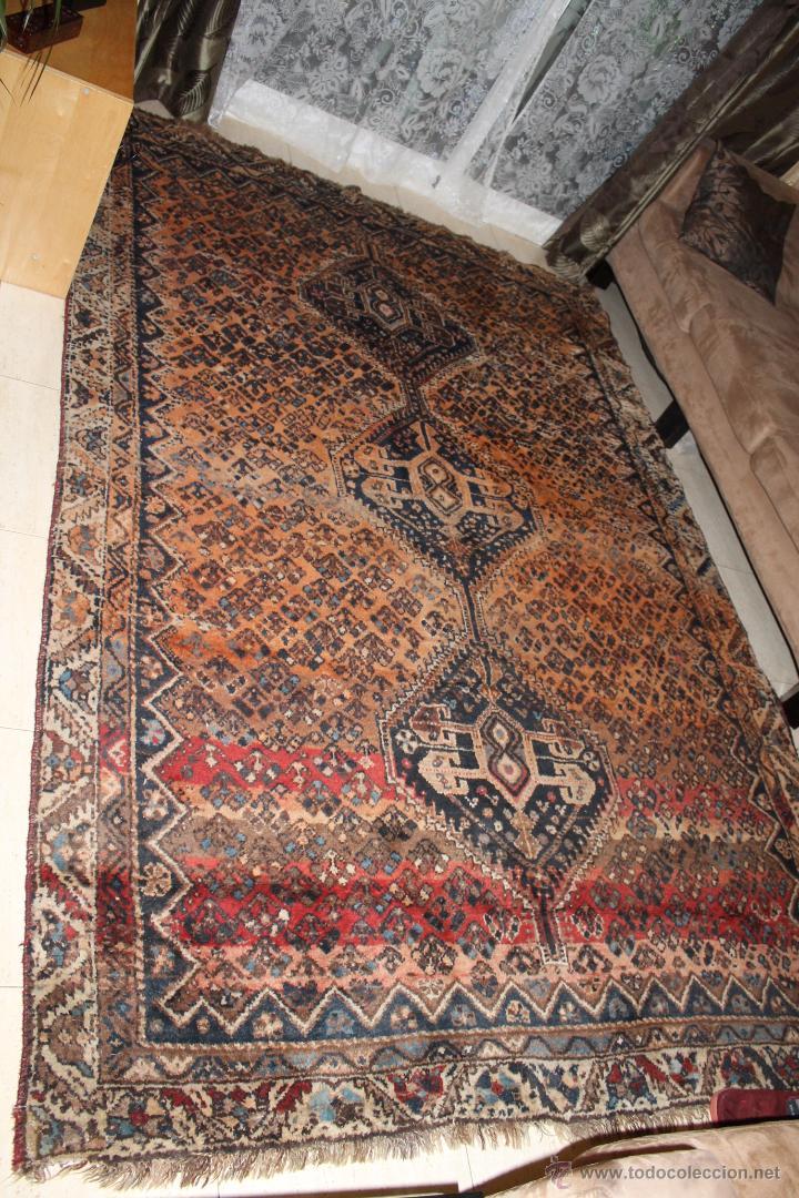 Alfombra persa de shiraz anudada a mano en lana comprar for Alfombras persas online