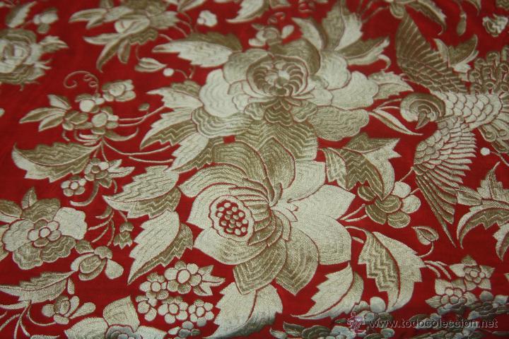Antigüedades: gran manton bordado - Foto 2 - 42098018