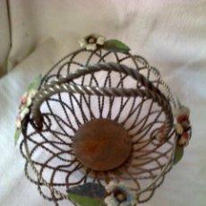 Antiques - cesta de hierro años 50 - 42109634