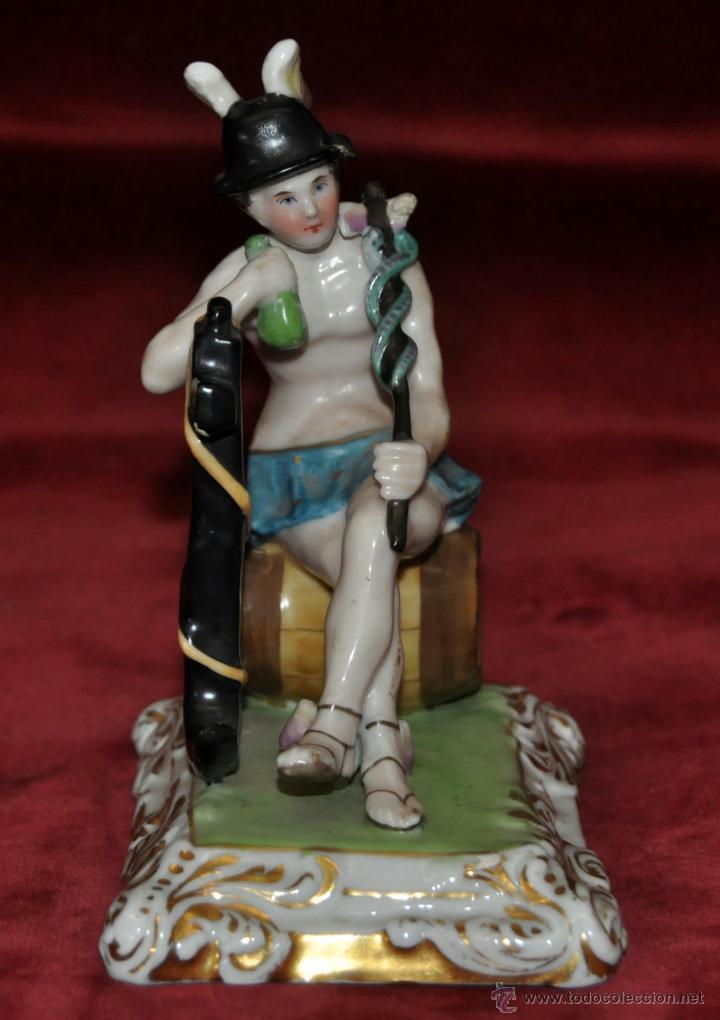 BONITA FIGURA EN PORCELANA ALEMANA DE APROXIMADAMENTE 1890 (Antigüedades - Porcelana y Cerámica - Alemana - Meissen)