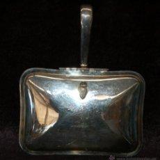 Antigüedades: RECOJEMIGAS EN METAL PLATEADO CON INCRIPCIONES VIKING PLATE. MADE IN CANADA. Lote 42133723