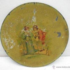 Antigüedades: ANTIQUÍSIMO PLATO METÁLICO. Lote 42139277