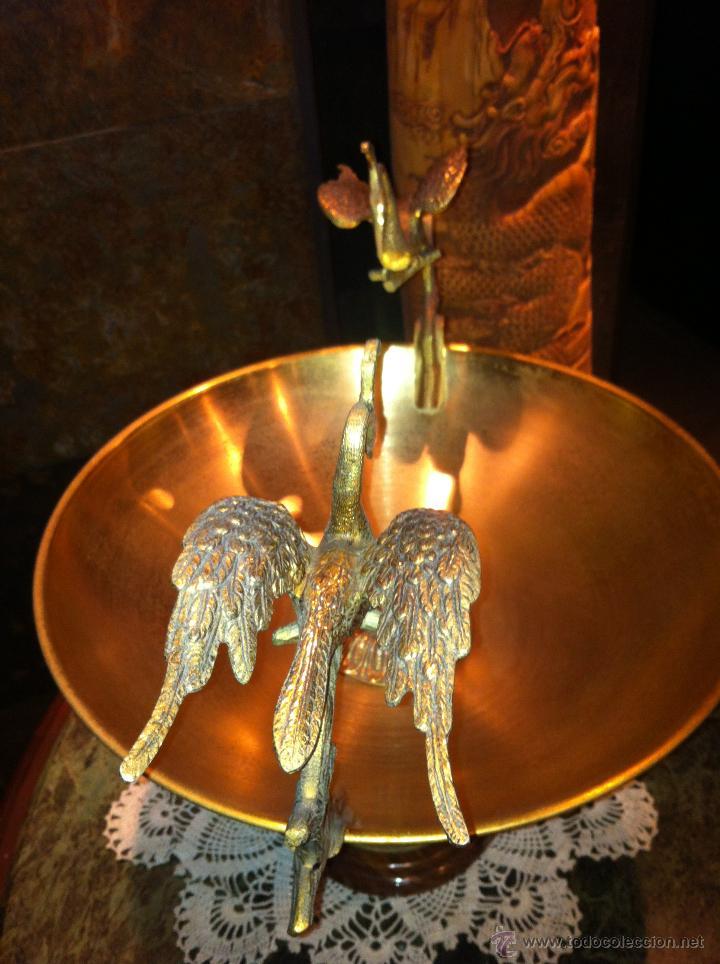Antigüedades: ANTIGUO CENTRO DE MESA EN BRONCE - Foto 5 - 42140150