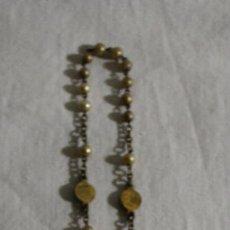 Antigüedades: ROSARIO EN METAL DORADO CON PERLITAS - SIGLO XIX. Lote 42141152