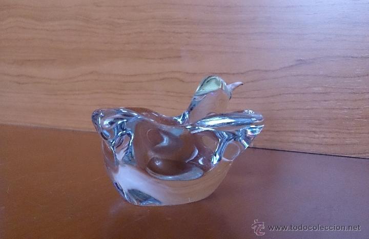 Antigüedades: Antiguo cenicero en cristal de roca y plata de ley con forma de colibrí . - Foto 13 - 42143546