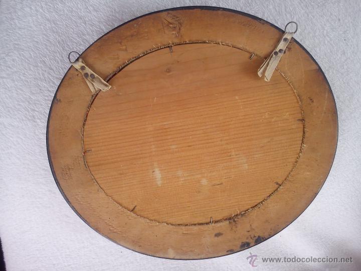 Antigüedades: ANTIGUO PERCHERO DE MADERA Y PUNTO DE CRUZ AÑOS 50. - Foto 6 - 42143922