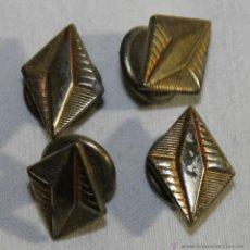 Antigüedades: GEMELOS EN METAL DORADO - ART DÉCO - AÑOS 30 - MEDIDAS: 17 MM.. Lote 42144138