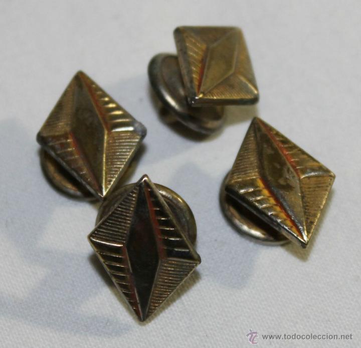 Antigüedades: GEMELOS EN METAL DORADO - ART DÉCO - AÑOS 30 - MEDIDAS: 17 MM. - Foto 2 - 42144138