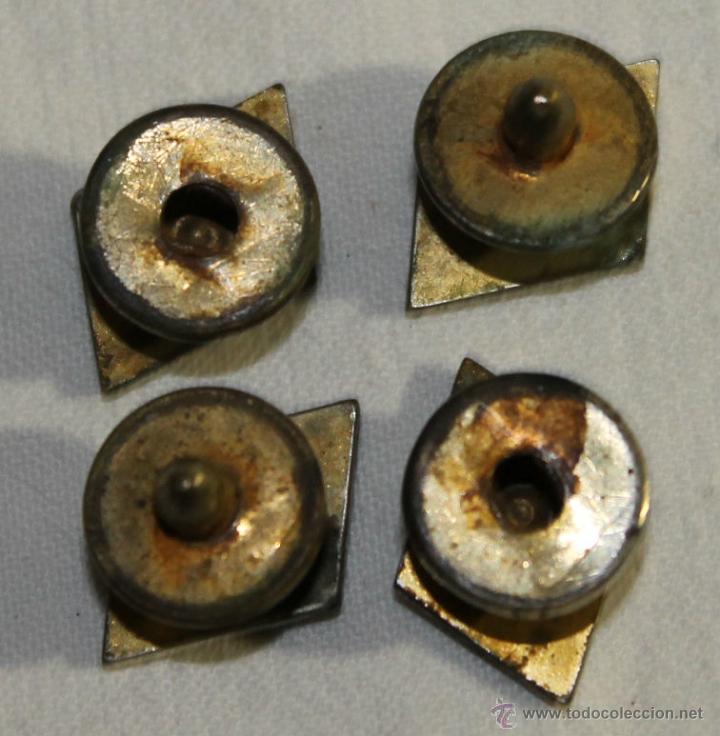 Antigüedades: GEMELOS EN METAL DORADO - ART DÉCO - AÑOS 30 - MEDIDAS: 17 MM. - Foto 3 - 42144138