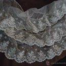 Antigüedades: EXQUISITO ENCAJE ANTIGUO PARA TOCADO DE VIRGEN. Lote 42145993