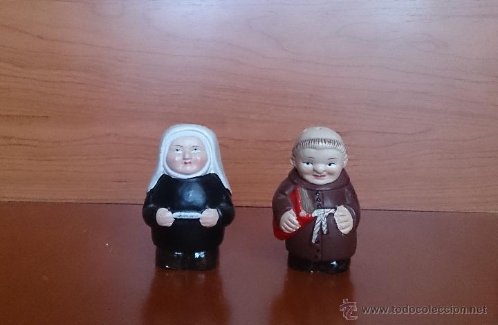 Antiguo saleros muy originales fraile y monja comprar - Saleros originales ...