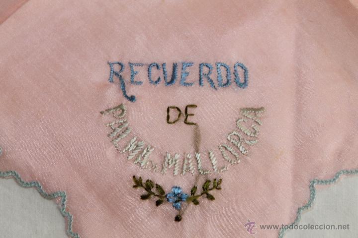 Antigüedades: LOTE DE 4 PAÑUELOS DE PRINCIPIOS DEL S.XX - DOS DE ELLOS RECUERDO DE PALMA DE MALLORCA - Foto 3 - 42166711