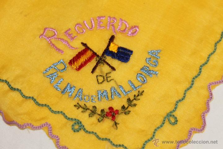 Antigüedades: LOTE DE 4 PAÑUELOS DE PRINCIPIOS DEL S.XX - DOS DE ELLOS RECUERDO DE PALMA DE MALLORCA - Foto 7 - 42166711