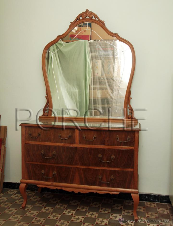 Aparador antiguo con espejo y cajones comprar - Aparadores con espejo ...