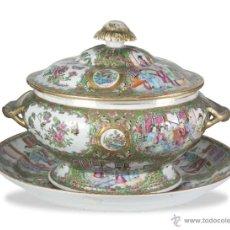 Antigüedades: SOPERA PORCELANA CHINA , CANTÓN SIGLO XIX. Lote 42186421
