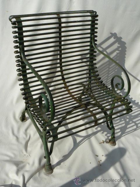 Sillon de jardin de hierro forjado frances mode comprar for Nombres de muebles antiguos