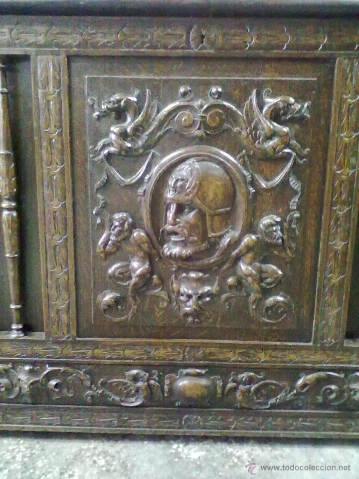 Antigüedades: ARCA ARCON ROBLE TALLADO FFSS XIX PPSS. XX - Foto 3 - 42218890
