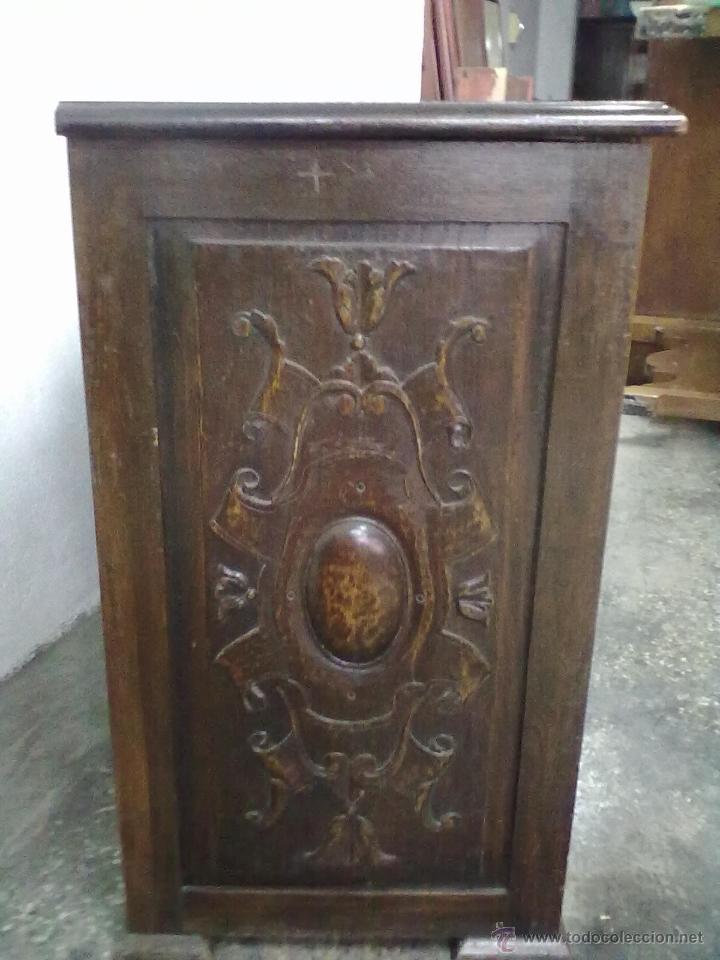 Antigüedades: ARCA ARCON ROBLE TALLADO FFSS XIX PPSS. XX - Foto 6 - 42218890