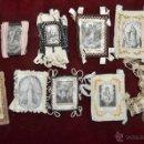 Antigüedades: CONJUNTO DE 14 ESCAPULARIOS BORDADOS A MANO DEL SIGLO XIX-XX. VIRGEN DEL CARMEN, MILAGROSA, ETC.... Lote 42226440