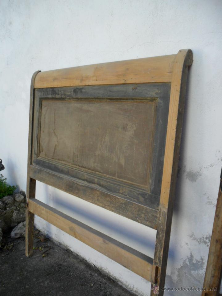 Cabecero de cama en madera de pino siglo xix comprar - Cabeceros de cama en madera ...