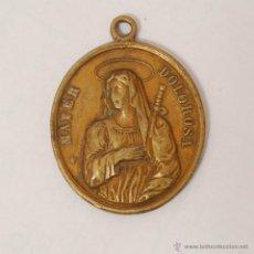 Antigüedades: MEDALLA DE LA VIRGEN DOLOROSA EN BRONCE.. Lote 42229612