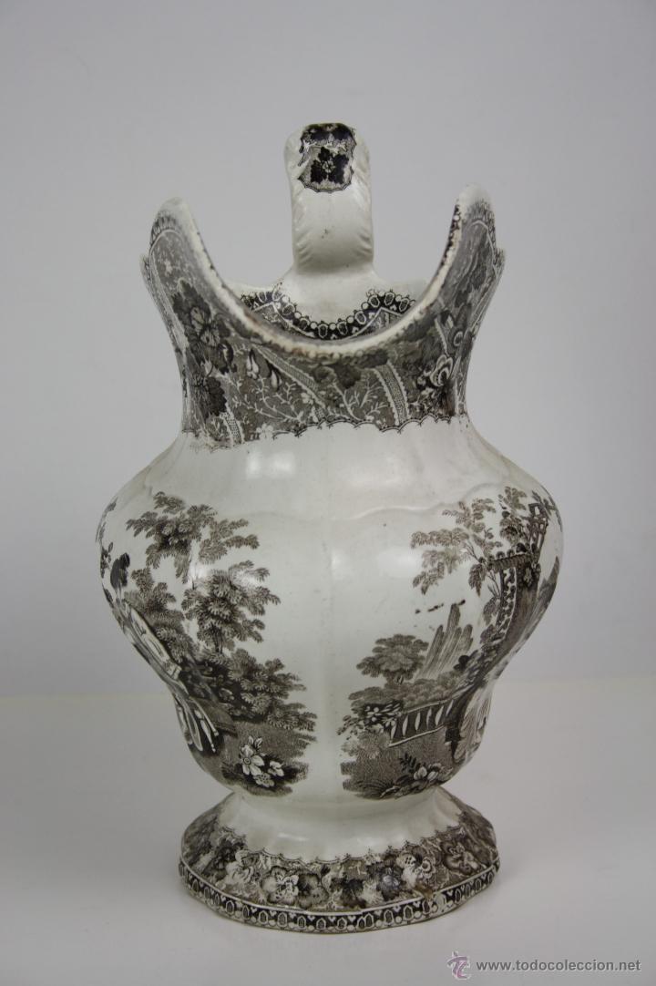 Antigüedades: GRAN JARRA EN LOZA TIPO CARTAGENA, DE ESTILO BARROCO, PROFUSAMENTE DECORADA - Foto 2 - 42236163