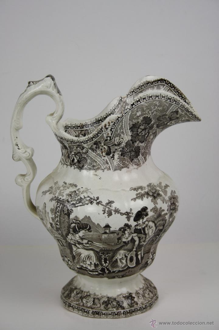 Antigüedades: GRAN JARRA EN LOZA TIPO CARTAGENA, DE ESTILO BARROCO, PROFUSAMENTE DECORADA - Foto 3 - 42236163