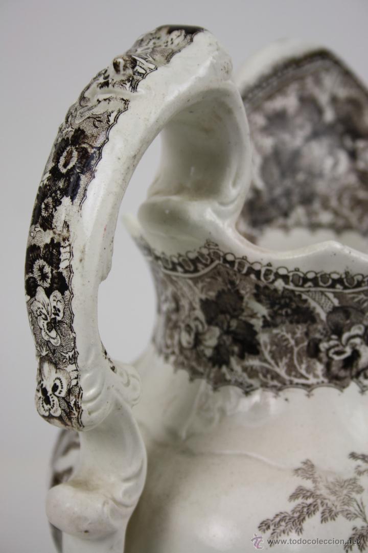 Antigüedades: GRAN JARRA EN LOZA TIPO CARTAGENA, DE ESTILO BARROCO, PROFUSAMENTE DECORADA - Foto 6 - 42236163