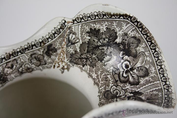 Antigüedades: GRAN JARRA EN LOZA TIPO CARTAGENA, DE ESTILO BARROCO, PROFUSAMENTE DECORADA - Foto 7 - 42236163