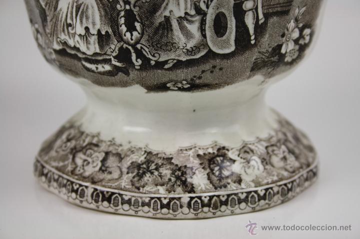 Antigüedades: GRAN JARRA EN LOZA TIPO CARTAGENA, DE ESTILO BARROCO, PROFUSAMENTE DECORADA - Foto 8 - 42236163