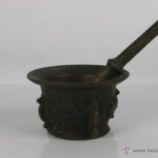 Antigüedades: AL-031. ALMIREZ EN BRONCE CON COSTILLAS Y ROSETAS. S. XVIII.. Lote 100320514