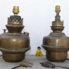 Antigüedades: MUY ANTIGUAS LAMPARAS QUINQUES J.B PARIS ORIGINALES LAMPARA ANTIGUA QUINQUE LATON FRANCESAS . Lote 42239106