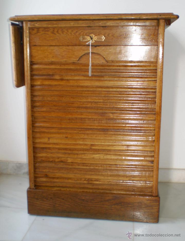 Antiguo mueble de persiana en roble americano comprar for Muebles de roble antiguos