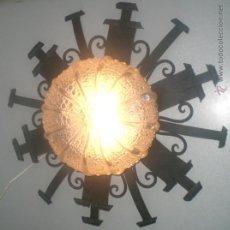 Oggetti Antichi: PLAFON FORJA HIERRO VIRO AÑOS 80. Lote 30286095