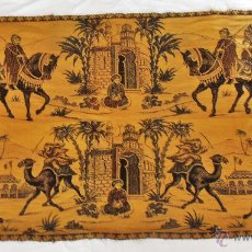 Antigüedades: TAPIZ ANTIGUO EN DOS COLORES. Lote 42278398