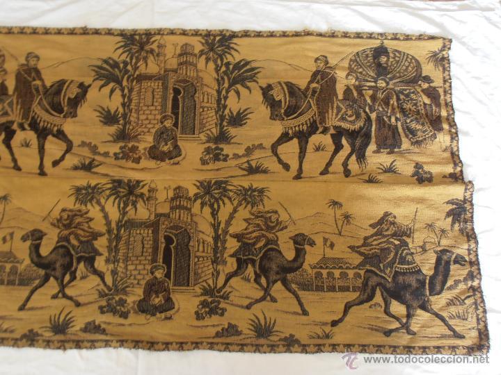 Antigüedades: TAPIZ ANTIGUO EN DOS COLORES - Foto 2 - 42278398