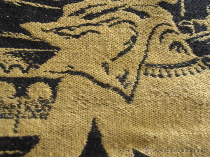 Antigüedades: TAPIZ ANTIGUO EN DOS COLORES - Foto 10 - 42278398