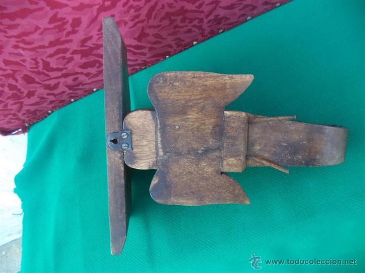 Antigüedades: mensula de madera figura de elefante - Foto 4 - 42289396