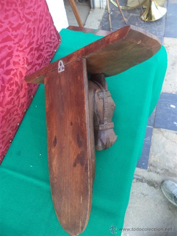 Antigüedades: mensula de madera cabeza de caballo - Foto 4 - 42293628