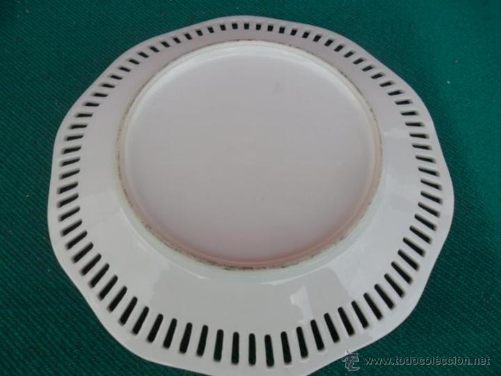 Antigüedades: plato porcelana - Foto 2 - 42298199