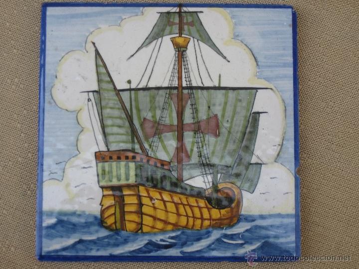 AZULEJO ANTIGUO DE ONDA ( CASTELLON ) 2/2. (Antigüedades - Porcelanas y Cerámicas - Azulejos)