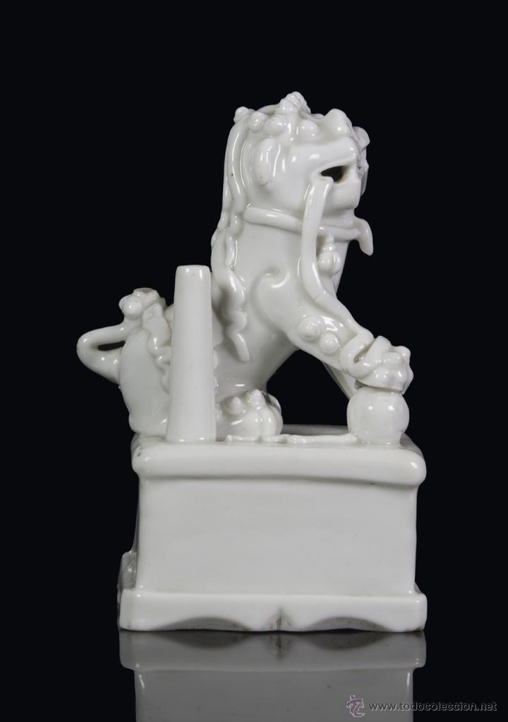 Antigüedades: Leon de foo. China Blanc de chine. Siglo XVII - Foto 2 - 42317568